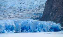 Patagonia blue glacier. Perito Moreno, Argentina. Patagonia blue glacier ice and lake Royalty Free Stock Image