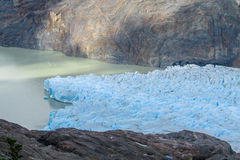 Patagonia blue glacier. Perito Moreno, Argentina. Patagonia blue glacier ice and lake Royalty Free Stock Photos