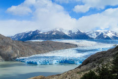 Patagonia blue ice glacier Stock Images