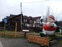 patagonia Casa de campo Langostura, boneco de neve Pouca cidade foto de stock