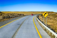 Patagonia, Chile. National road from Punta Arenas to Puerto Natales, Magallanes and Antartica Chilena region, South America Stock Photos