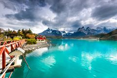 Pehoe Lake, Torres del Paine, Patagonia, Chile Stock Photography