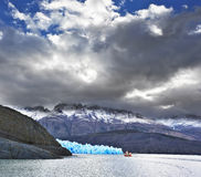 The  Patagonia in the clouds and sunshine Stock Photos
