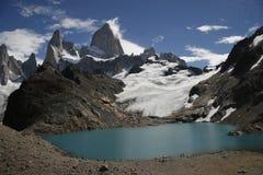 Patagonia con il ghiacciaio immagini stock