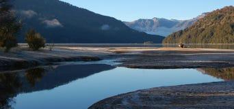 Patagonia do lago Falkner Foto de Stock Royalty Free