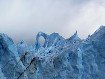 Patagonia, el perito Moreno foto de archivo