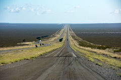 Patagonia endless road on sunny day Stock Photography