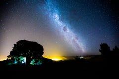 Patagonia för stjärnklar natt Arkivfoton