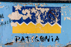 Patagonia graffiti Stock Image