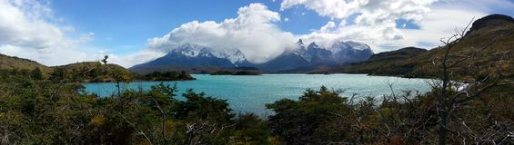 Patagonia lake. Patagonia glacier lake panorama Stock Photography