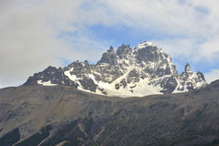 Patagonia Landscape ( Cerro Castillo ). Mountains threes and lake landscape Royalty Free Stock Photography