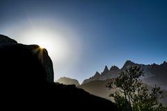 Patagonia Landscape Scene, Aysen, Chile. Patagonia landscape scene at Aysen district, Chile stock photos