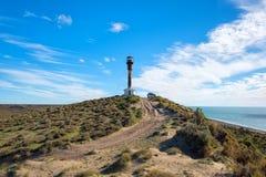 Patagonia lighthouse landscape in valdes peninsula Stock Photos
