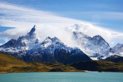 Patagonia mountain in chile Stock Image