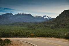 Patagonia Mountain road Royalty Free Stock Photo