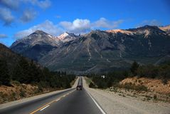 Patagonia road. One of Patagonia's highway with amazing landscape Stock Photography