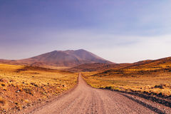 Patagonia Roads. Long Gravel Roads of Patagonia Argentina royalty free stock image