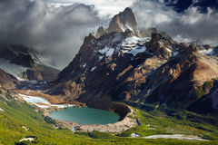 patagonia roy för argentina fitzmontering Arkivbilder