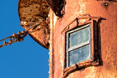 Patagonia rusted lighthouse detail in valdes peninsula Stock Photography