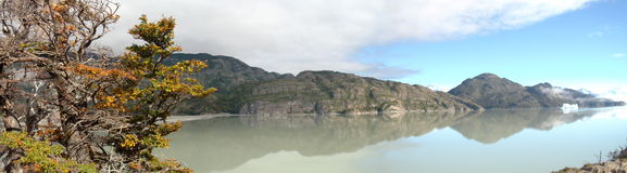 Patagonia sjö arkivbilder