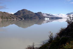 Patagonia sjö Fotografering för Bildbyråer