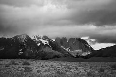 Patagonia - torres del paine Fotografia Stock