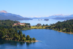 Patagonialandskap - Bariloche - Argentina Royaltyfri Bild
