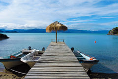 Patagonian λίμνη Στοκ Φωτογραφία