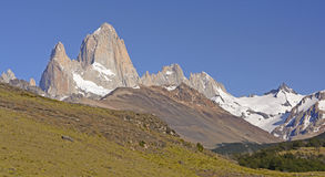 The Patagonian Andes along a Mountain Valley Royalty Free Stock Image