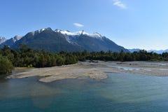 Patagonian Bergen stock foto's