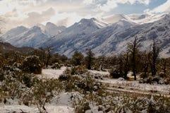 Patagonian Bergketen stock fotografie