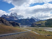 Patagonian el chalten youngest argentinian city Royalty Free Stock Image