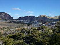 Patagonian el chalten youngest argentinian city Royalty Free Stock Photography