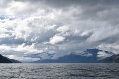 Patagonian Fjorde Stockbilder