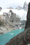 Patagonian góry, lodowiec i jezioro, Obraz Royalty Free