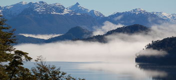 Patagonian Gebirgsszene Stockfotografie