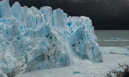 Patagonian Glacier Icefall. Dramatic icefall from the Perito Moreno Glacier in southern Argentina royalty free stock image