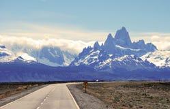 Patagonian krajobraz w parku narodowym Los Glaciales obrazy stock