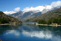 Patagonian lake. Spectacular mountain scenery in Chilean Patagonia Royalty Free Stock Photos