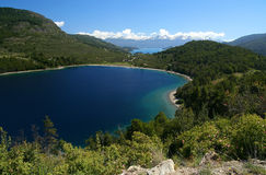 Patagonian lake. Spectacular mountain scenery in Chilean Patagonia Royalty Free Stock Image