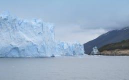 Patagonian landscape with glacier and lake. Perito Moreno Stock Photography