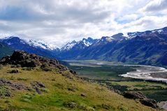 Patagonian Landscape in the National Park Los Glaciales in Patagoni stock photos