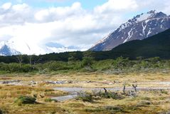 Patagonian Landscape in the National Park Los Glaciales in Patagoni stock photo