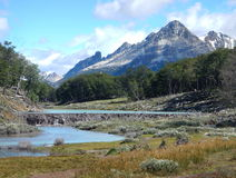 Patagonian landscape in tierra del fuego in argentina Royalty Free Stock Photography
