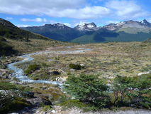 Patagonian landscape in tierra del fuego in argentina Stock Photo