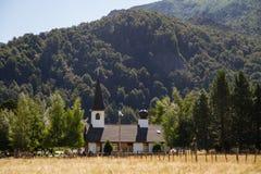 Patagonian Landschaft an einem sonnigen Tag Lizenzfreies Stockbild