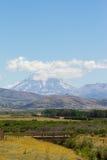 Patagonian landschap stock fotografie