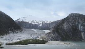 Patagonian landschap met gletsjer en bergen Royalty-vrije Stock Fotografie