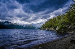 Patagonian landskap i Ushuaia, Argentina arkivfoto