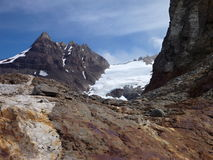 Patagonian mountain panorama in los glaciares park Stock Photo
